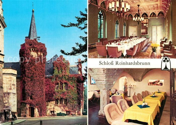 AK / Ansichtskarte Reinhardsbrunn Schloss Reinhardsbrunn Teilansicht Ahnensaal Schlosskellerbar Kat. Friedrichroda