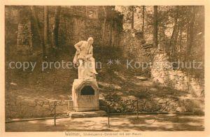 AK / Ansichtskarte Shakespeare William Denkmal Weimar  Kat. Persoenlichkeiten