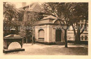AK / Ansichtskarte Schiller Friedrich Begraebnisstaette Jacobsfriedhof Weimar  Kat. Dichter