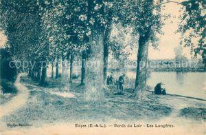AK / Ansichtskarte Cloyes sur le Loir Bords du Loir les Longeres Kat. Cloyes sur le Loir