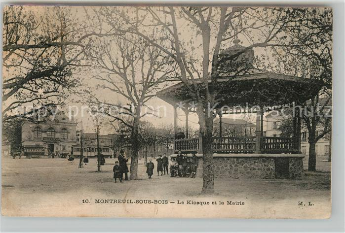 AK / Ansichtskarte Montreuil Bobigny Kiosque et Mairie Kat. Montreuil