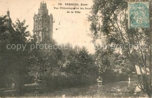 AK / Ansichtskarte Verneuil sur Avre Vue pittoresque et les fosses de la Ville Kat. Verneuil sur Avre