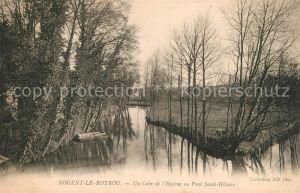 AK / Ansichtskarte Nogent le Rotrou Un Coin de l'Huisne au Pont Saint Hilairie Kat. Nogent le Rotrou