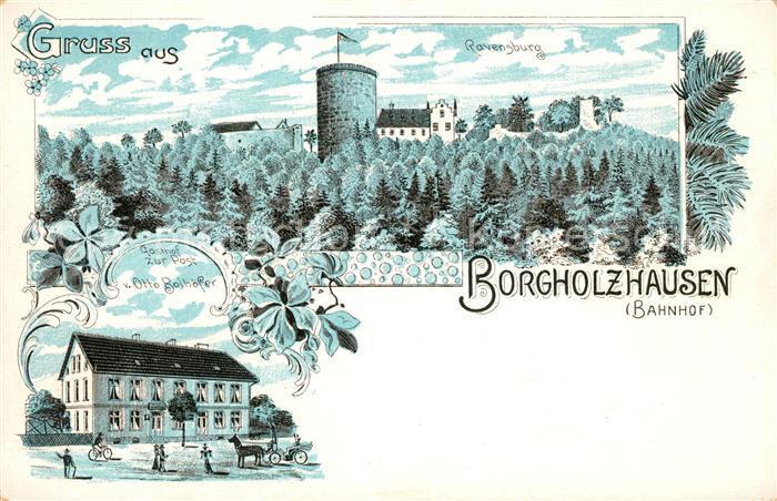 AK / Ansichtskarte Borgholzhausen Ravensburg Gasthaus Bolhoefer Kat. Borgholzhausen