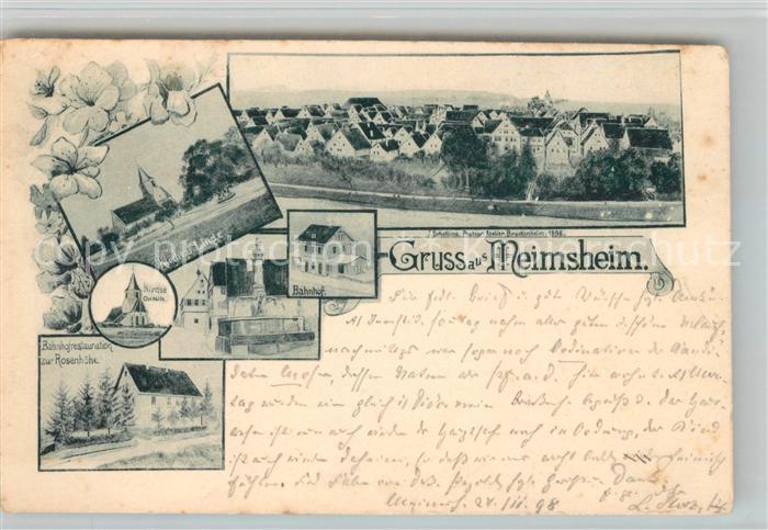AK / Ansichtskarte Meimsheim Restaurantion Rosenhoehe Bahnhof Kat. Brackenheim