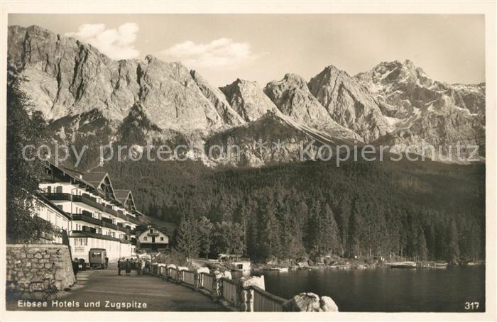 AK / Ansichtskarte Eibsee Hotel Zugspitze Kat. Grainau