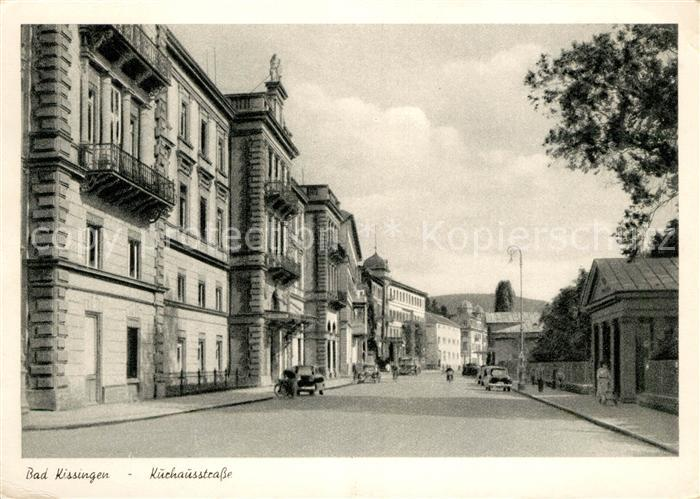 AK / Ansichtskarte Bad Kissingen Kurhausstrasse Kupfertiefdruck Kat. Bad Kissingen