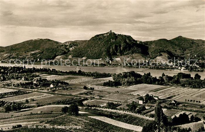 AK / Ansichtskarte Siebengebirge Fliegeraufnahme Kat. Koenigswinter