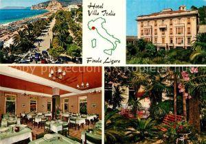 AK / Ansichtskarte Finale Ligure Hotel Villa Italia Strand Restaurant Park