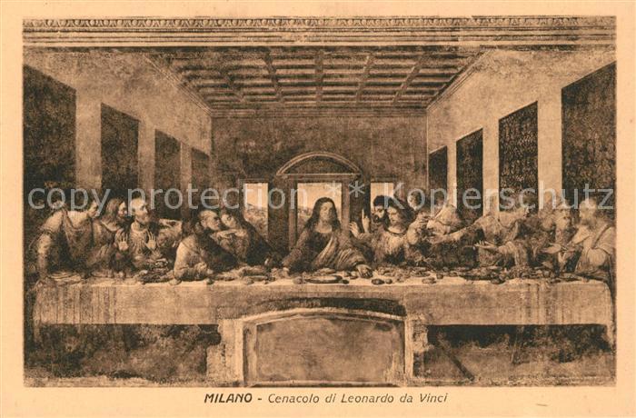 AK / Ansichtskarte Leonardo Da Vinci Cenacolo Abendmahl Jesus Kat. Persoenlichkeiten