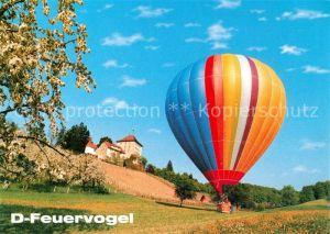 AK / Ansichtskarte Heissluftballon D Feuervogel  Kat. Flug