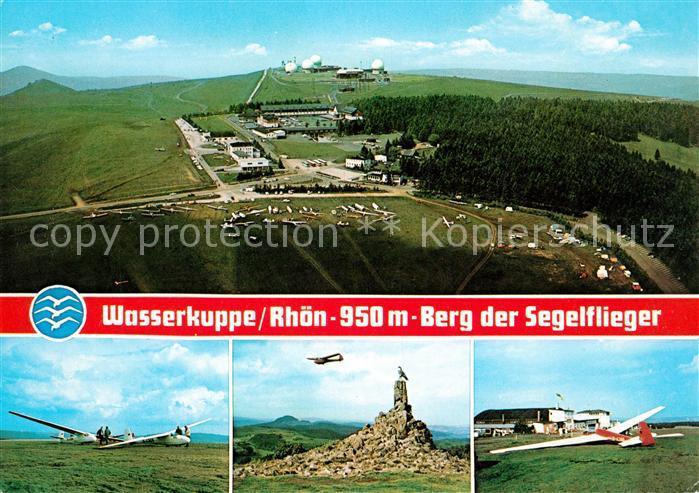AK / Ansichtskarte Segelflug Wasserkuppe Rhoen Fliegeraufnahme Kat. Flug
