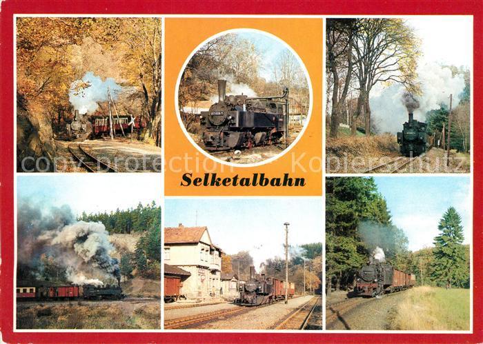 AK / Ansichtskarte Lokomotive Selketalbahn Bahnhof Alexisbad Strassberg  Kat. Eisenbahn