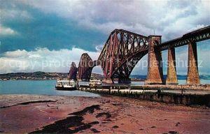 AK / Ansichtskarte North Queensferry Forth Bridge crossing the Firth of Forth River Railway Bridge
