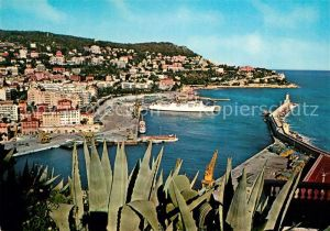 AK / Ansichtskarte Nice Alpes Maritimes Vue sur le port le Mont Boron et le Cap de Nice Kat. Nice