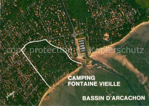 AK / Ansichtskarte Bassin d Arcachon Vue aerienne Camping Fontaine Vieille