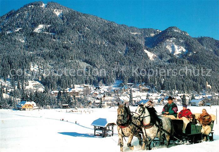 AK / Ansichtskarte Pferdeschlitten Weissbriach Gitschtal