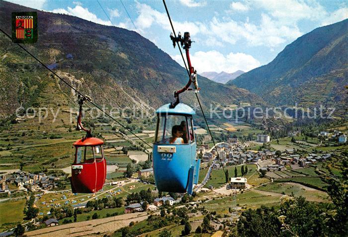 AK / Ansichtskarte Seilbahn Valls d Andorra Encamp  Kat. Bahnen