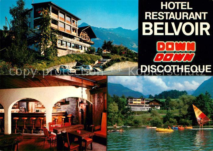 AK / Ansichtskarte Sachseln OW Hotel Restaurant Belvoir Diskothek Down Down Kat. Sachseln