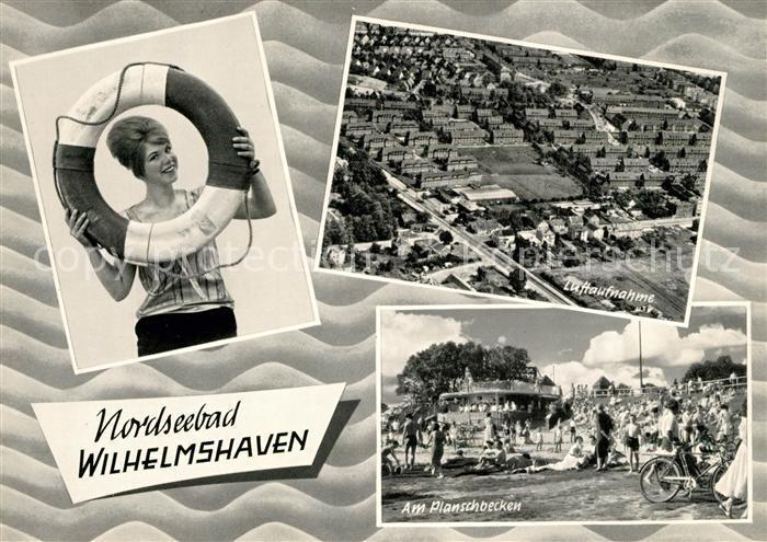 AK / Ansichtskarte Wilhelmshaven Fliegeraufnahme Planschbecken Kat. Wilhelmshaven
