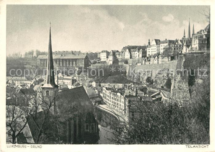 AK / Ansichtskarte Luxemburg Luxembourg Grund Kat. Luxemburg