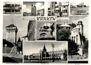 AK / Ansichtskarte Krakow Krakau Kaplice na Wawelu Kosciol na Skalce Mariacki