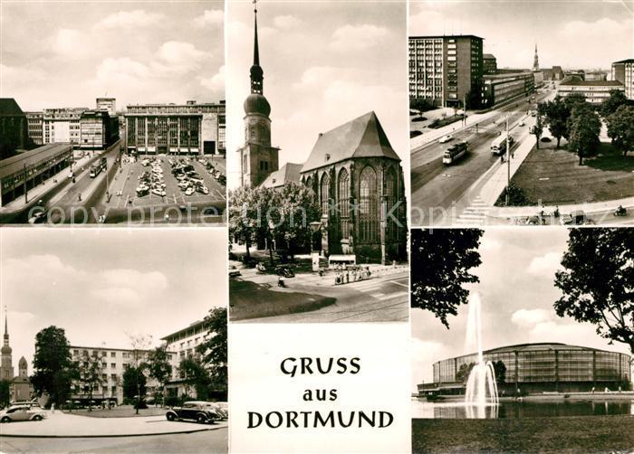 AK / Ansichtskarte Dortmund Hansaplatz Hotel Roemischer Kaiser Reinoldikirche Kat. Dortmund