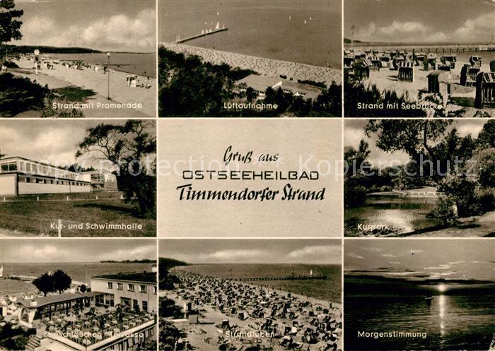 AK / Ansichtskarte Timmendorfer Strand Fliegeraufnahme Kurpark Strand Kat. Timmendorfer Strand