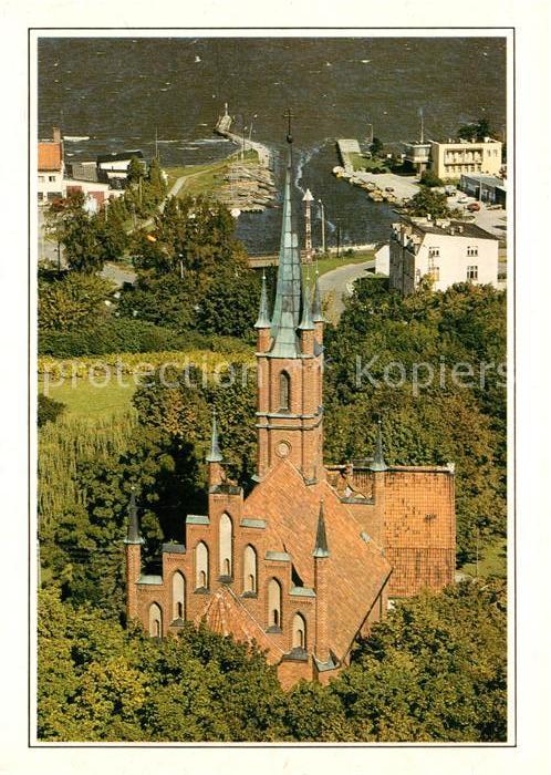 AK / Ansichtskarte Frombork Kosciol neogotycki Neogotische Kirche Fliegeraufnahme Kat. Frauenburg Ostpreussen