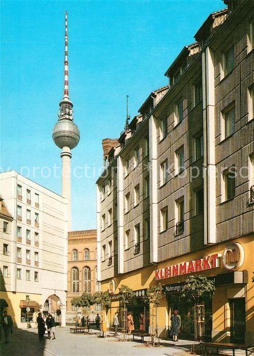 AK / Ansichtskarte Berlin Nikolaiviertel Fernsehturm Hauptstadt der DDR Kat. Berlin