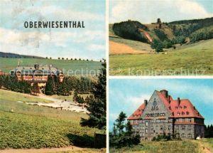 AK / Ansichtskarte Oberwiesenthal Erzgebirge Ferienheim der IG Wismut Aktivist Schanzen FDGB Sanatorium Sachsenbaude Kat. Oberwiesenthal