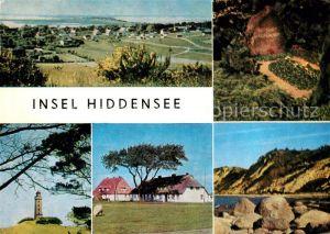 AK / Ansichtskarte Insel Hiddensee Dornbusch Leuchtturm Grabstaette Gerhart Hauptmanns Fischerhaeuser Steilkueste Kat. Insel Hiddensee
