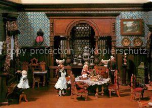AK / Ansichtskarte Puppen Puppenstube Berliner Wohnzimmer um 1890 Freilichtmuseum Kommern Kat. Spielzeug