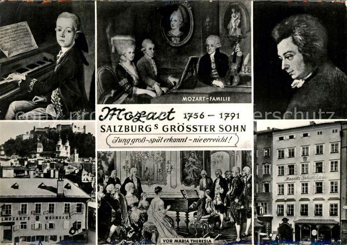 AK / Ansichtskarte Mozart Wolfgang Amadeus Wohnhaus Geburtshaus Maria Theresia Mozart Familie  Kat. Komponist