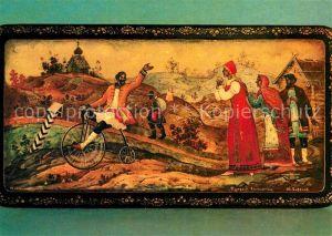 AK / Ansichtskarte Kuenstlerkarte Yu. M. Vavanov Penny Farthing Kat. Kuenstlerkarte