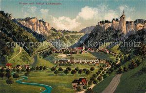 AK / Ansichtskarte Honau Lichtenstein Panorama mit Schloss Lichtenstein Kat. Lichtenstein
