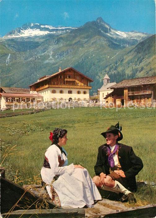 AK / Ansichtskarte Matrei Osttirol Tauernhaus Grossveniger Paar in Tracht Kat. Matrei in Osttirol