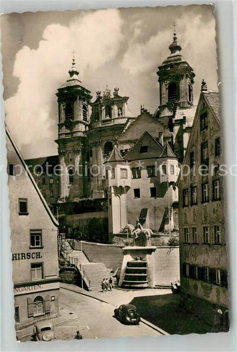 AK / Ansichtskarte Weingarten Wuerttemberg Basilika Martinsbrunnen