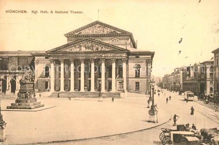 Muenchen Hof National Theater Kat. Muenchen