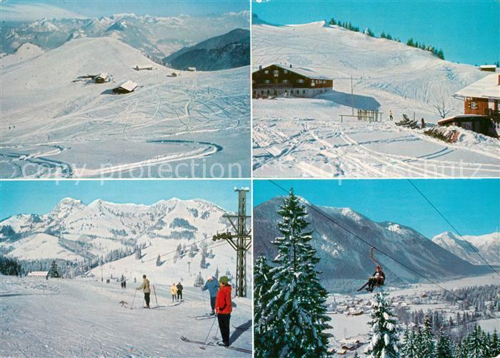 AK / Ansichtskarte Bayrischzell Wintersportplatz Sudelfeld Mangfallgebirge Kat. Bayrischzell