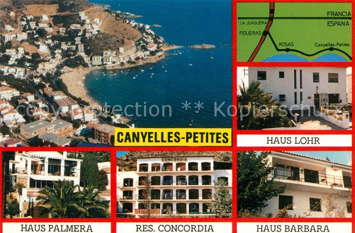 AK / Ansichtskarte Canyelles Petites Ferienhaeuer Ferienwohnungen Hafen Fliegeraufnahme