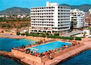 AK / Ansichtskarte Ibiza Islas Baleares Hotel Ibiza Playa Figueretes Piscina vista aerea Kat. Ibiza