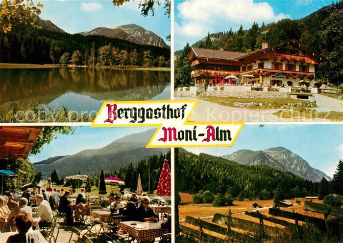 AK / Ansichtskarte Rottach Egern Berggasthof Moni Alm Landschaftspanorama Alpen Kat. Rottach Egern