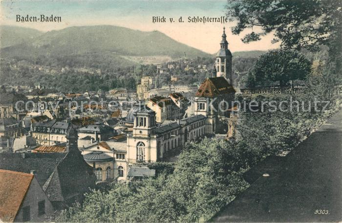 AK / Ansichtskarte Baden Baden Blick von der Schlossterrasse Kat. Baden Baden