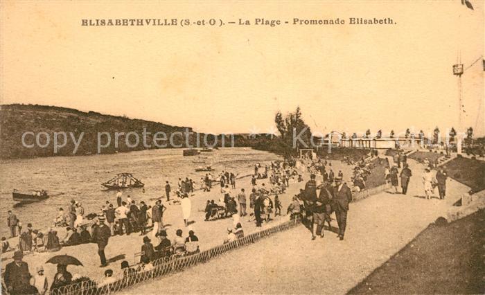 AK / Ansichtskarte Elisabethville La Plage Promenade Elisabeth Kat. Aubergenville