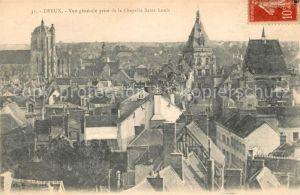 AK / Ansichtskarte Dreux Vue generale prise de la Chapelle Saint Louis Kat. Dreux