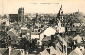 AK / Ansichtskarte Dreux Vue generale prise du Chateau Kat. Dreux