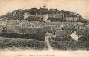 AK / Ansichtskarte Dreux Le Chateau vue prise de Saint Thibault Kat. Dreux