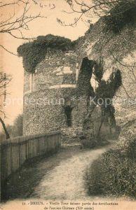 AK / Ansichtskarte Dreux Vieille Tour faisant partie des fortifications de l'ancien Chateau Kat. Dreux