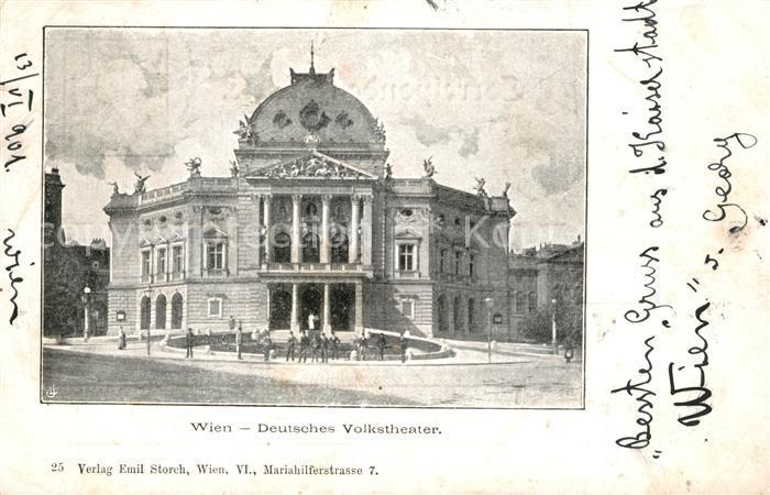 AK / Ansichtskarte Wien Deutsches Volkstheater Kat. Wien